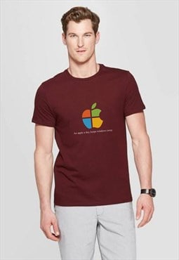 Apple windows BURGUNDY t-shirt f4f clothing