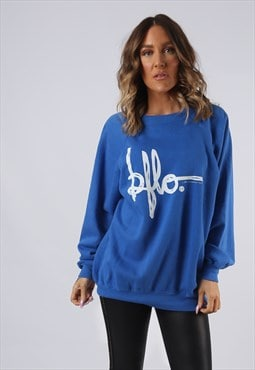 Sweatshirt Jumper Oversized BUFFALO Logo Print UK 16 (K9EZ)