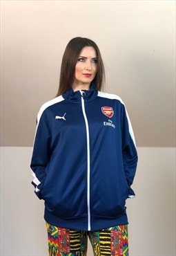 Football 2000 Puma soccer arsenal Jacket blue white