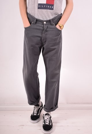 VERSACE MENS VINTAGE TROUSERS W36 L29 GREY 90S