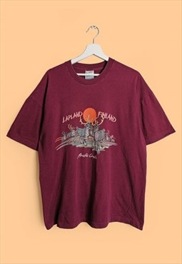 Vintage 90's SCREEN STARS Lapland Finland T-shirt