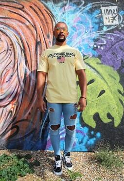 USA Print T-Shirt - ASM215