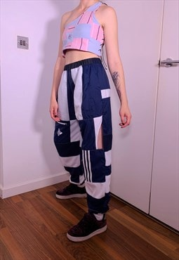 Reworked Adidas Cut Out Joggers
