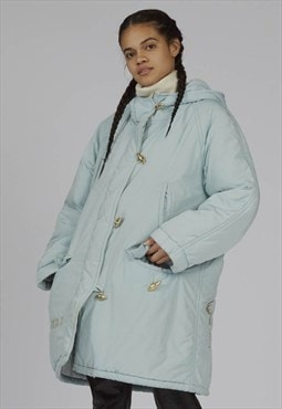 Vintage rare 90s Iceberg baby blue Seal puffer