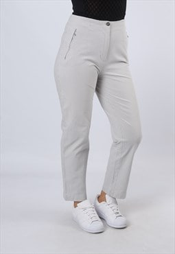 High Waisted Trousers Checked Tapered UK 12 (GKBF)