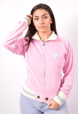Vintage Champion Tracksuit Top Jacket Pink