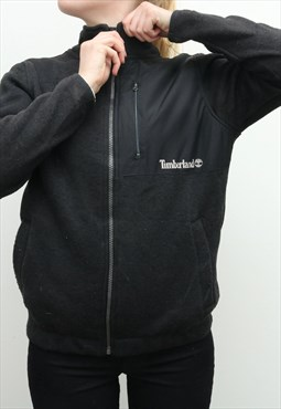 Timberland - Black Zip Up Fleece Jumper - Large