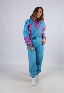 Vintage Full Ski Suit Snow Sports UK 8 - 10 (LJ4W)