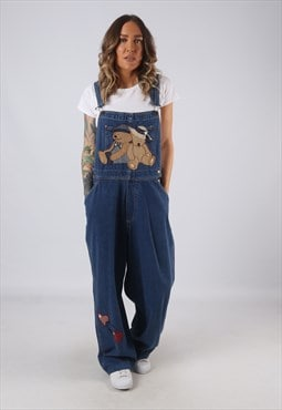 Denim Dungarees HAIKS Wide Leg Teddy Bear UK 16  (K3G)