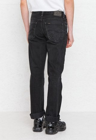 VINTAGE BLACK LEE DENIM JEANS