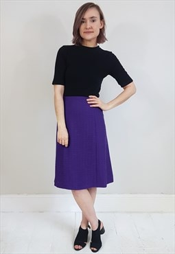 Secondhand Purple Glitter Knit Style A-Line Skirt