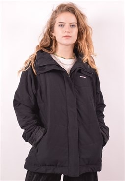 Diadora Womens Vintage Padded Jacket Large Black 90s
