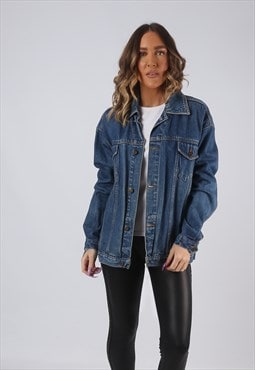 Denim Jacket Oversized Fitted XCLUSIVE Vinatge UK 16  (HW3O)