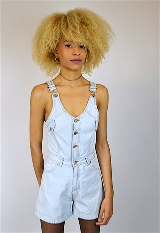 VINTAGE 90'S DUNGAREE SHORTS