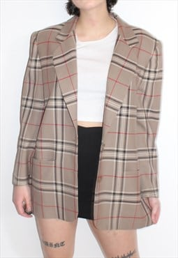 Tartan Tweed Blazer Jacket