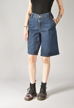 Vintage Levi's Carpenter Denim Shorts Dark Blue