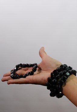 Natural black Obsidian bracelet