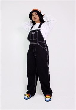 Vintage Long Denim Dungarees / Overalls.