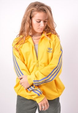 Vintage Adidas Tracksuit Top Jacket Yellow
