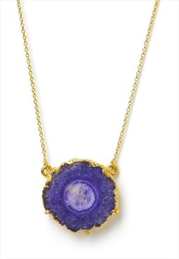 Purple 'Solar Power' Luxe Gold Necklace