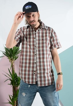 Vintage carhartt Skater shirt in brown.
