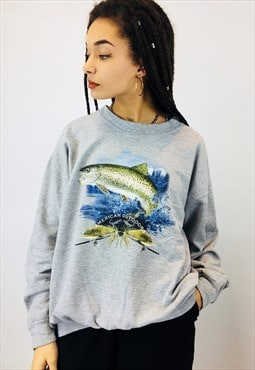Vintage USA American Fishing Sweatshirt
