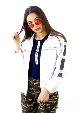 90's Retro White Track Jacket