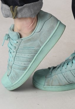 Adidas Suede Shell toe Superstars trainers UK 8.5, US 9 (KEE