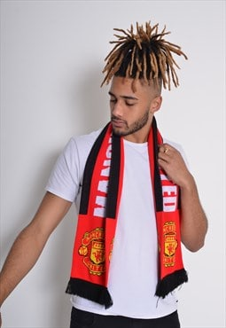 Vintage Manchester United Scarf Red