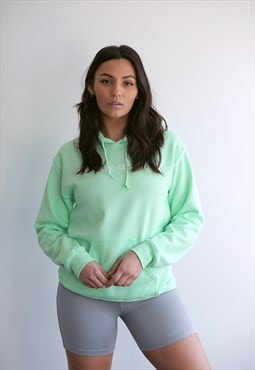 Light Lime/White Large Logo Hoodie