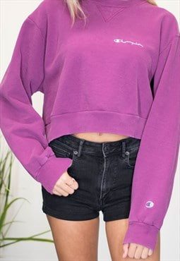 Vintage Champion Sweatshirt Crop Top