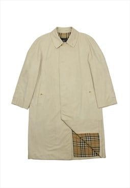 Vintage Burberry beige trench coat check lining