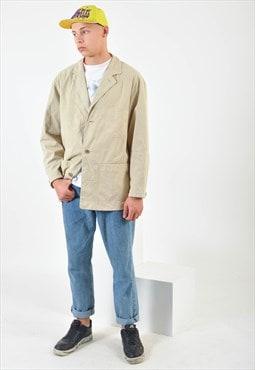 Vintage suede leather blazer jacket