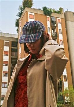 90s Vintage Burberry check cap