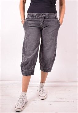 Levi's Womens Vintage Corduroy Capri Trousers W30 Grey 90s