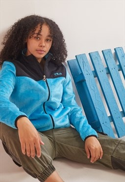 Vintage Fila Fleece Jacket Blue