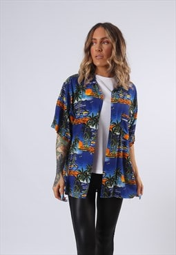 Patterned Shirt Fitted Oversized UK 10 - 12 (GFBT)