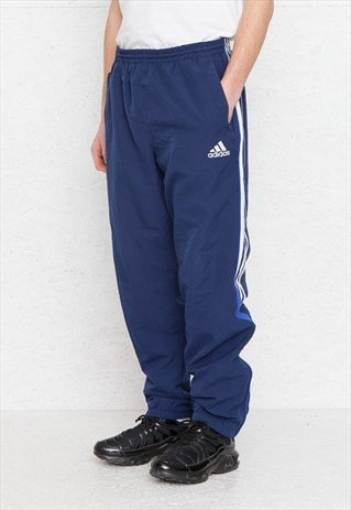 VINTAGE RETRO BLUE ADIDAS TRACK BOTTOMS JOGGERS
