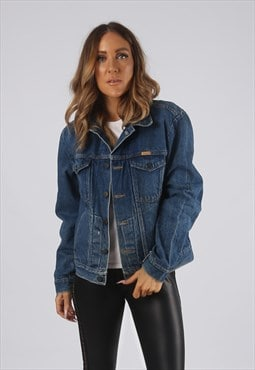 Vintage Denim Jacket Oversized Fitted UK 12 Medium (JR3K)