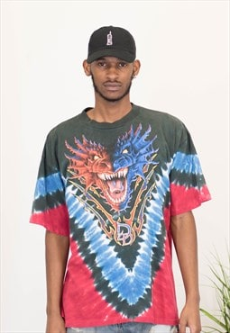 Vtg Dueling Dragons T-Shirt