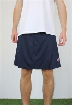 Vintage Tennis Skirt Shorts in Blue and Pink with Logo