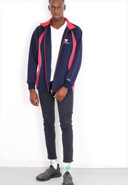 Vintage Blue and Red  Fila  Sports tracksuit