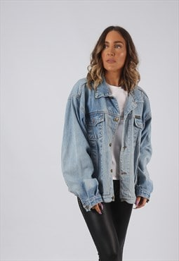 Denim Jacket Oversized Fitted Vintage UK 18 - 20 (DK4J)
