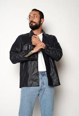 Black Trussardi Leather Jacket M