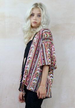 Aztec Bling Sequin Kimono