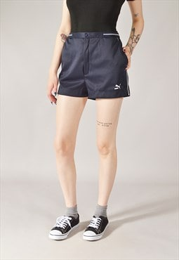 Vintage Puma Sports Shorts Navy Blue