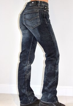 Reworked Denim VERSACE COUTURE Bleached Bootcut Jeans