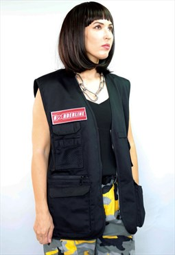 Unisex utility Red Patch Gilet Vest