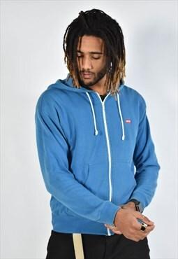 Vintage Levis Zip Up Hoodie Blue