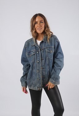 Vintage Denim Jacket Oversized Fitted UK 16 XL (HDK)